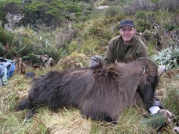 Martin Mason of Denmark takes a Himalayan tahr, hunting with Chris McCarthy of Lake Hawea Hunting Safaris